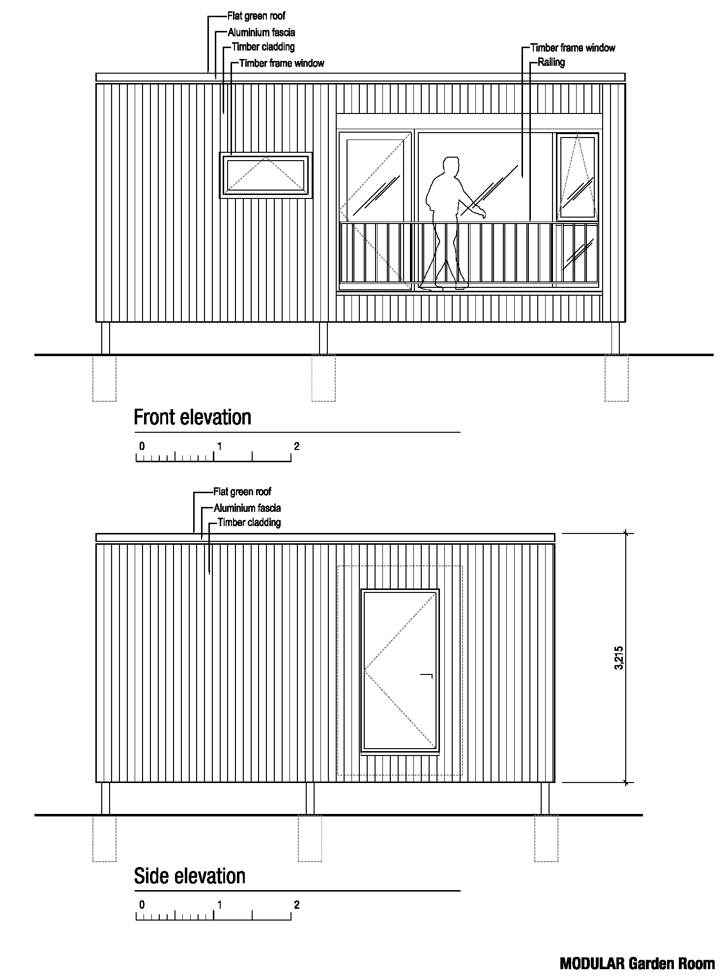 Front & side elevations